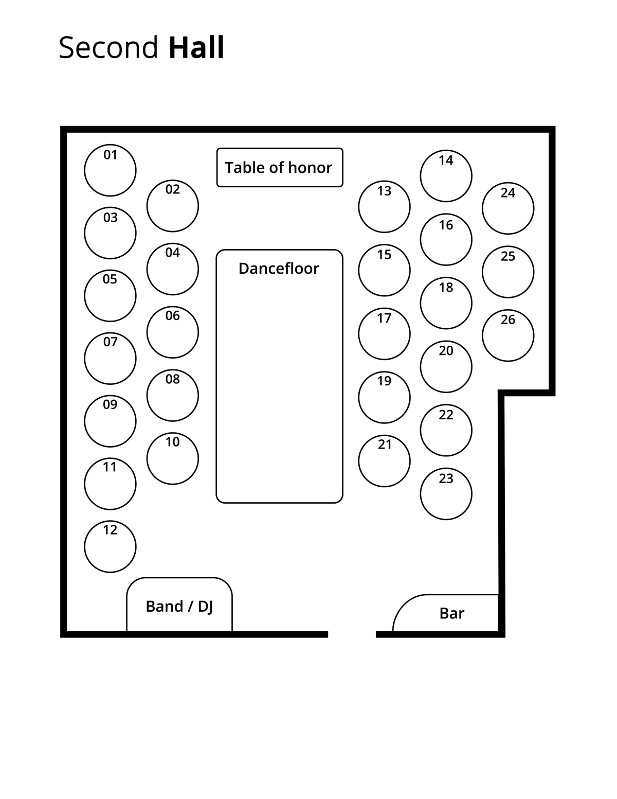 second hall floor plan